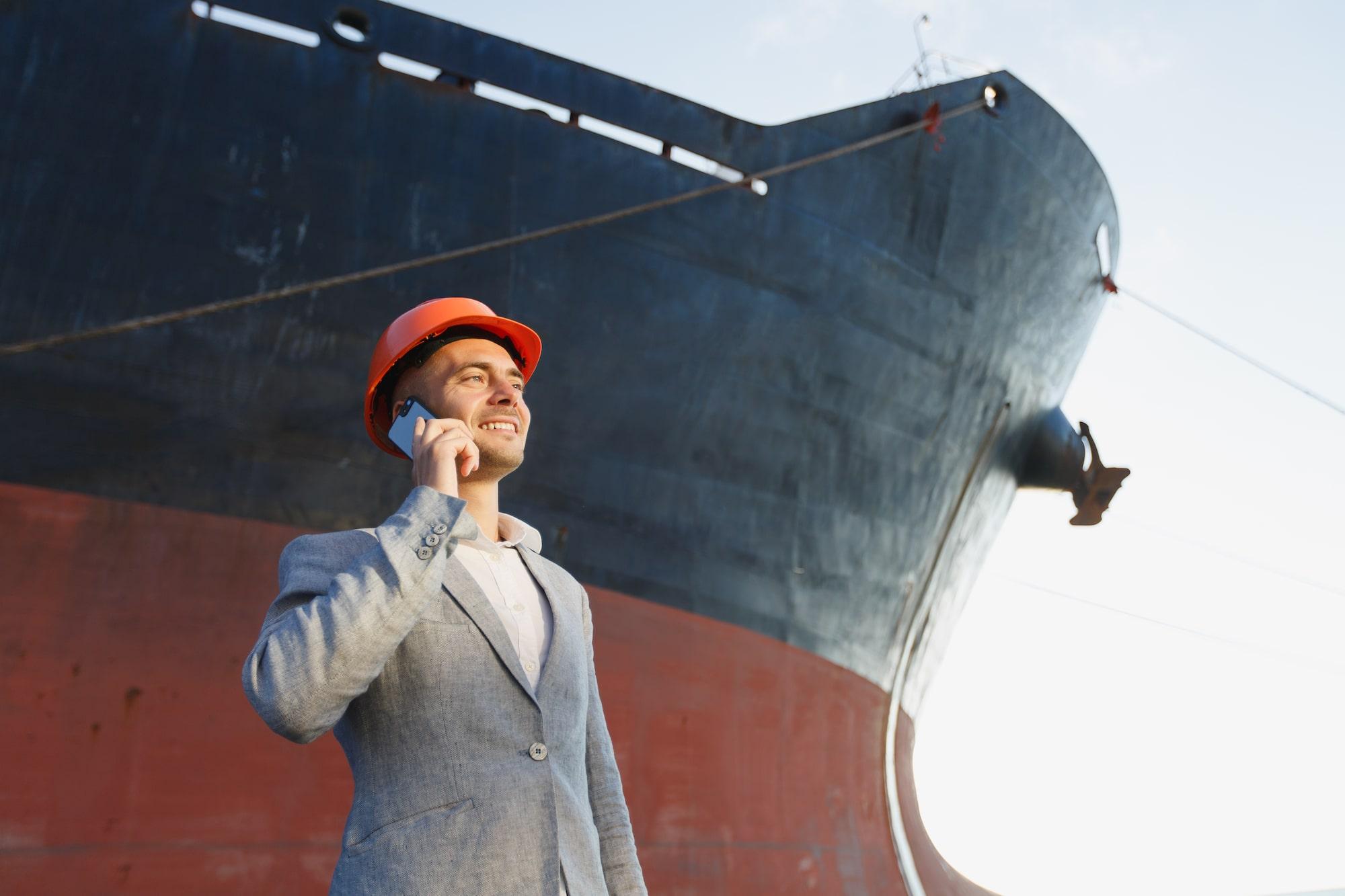 Man Ship outside